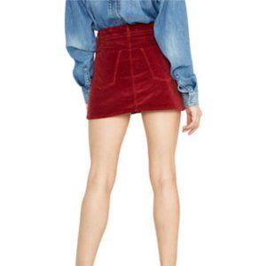 3/$25 SALE GRLFRND Red Velvet Corduroy Mini Skirt